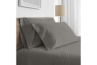 Valeria 1000TC Ultra Soft Double Bed Sheet Set - Grey
