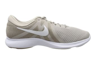 Nike Men's Revolution 4 Running Shoe (White/Stone, Size 7 US)