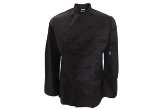 Le Chef Mens Classic Fit Long Sleeve Jacket (Black)
