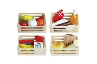 Pretend Wooden Food - 21 Piece Set