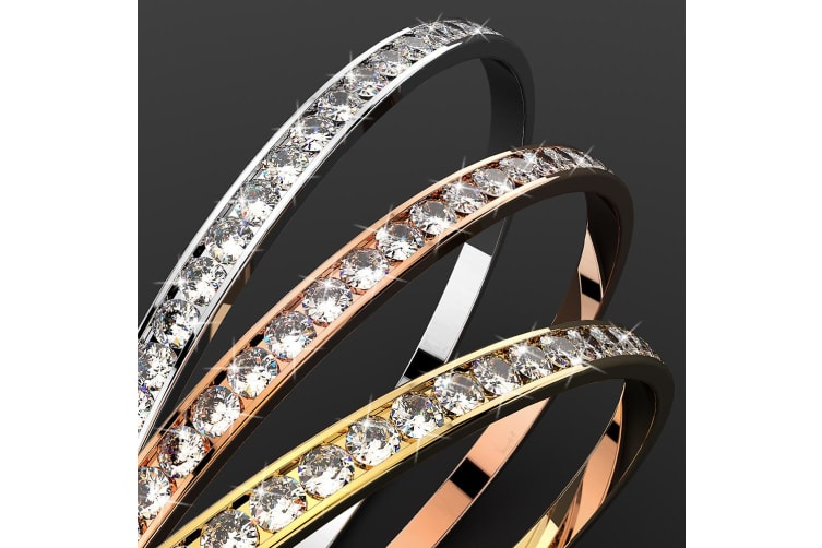 360 Classic Bangle Embellished with Swarovski crystals