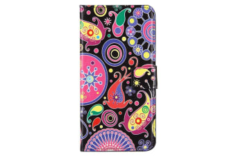 For iPhone 8 PLUS 7 PLUS Wallet Case Colourful Acaleph Protective Leather Cover