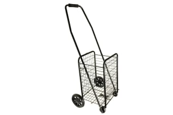 Portable 4 Wheels Grocery/Shopping Trolley/Cart/Foldable Basket/Metal/Holds 20Kg