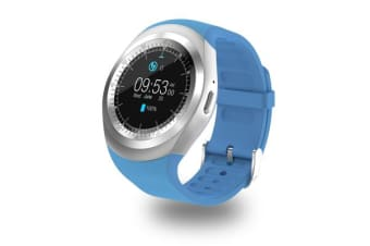"TODO Bluetooth V3.0 Smart Watch 1.54"" Ips Lcd Rechargeable Bt Sync Android - Blue"