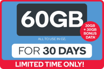 Kogan Mobile Broadband Voucher Code: DATA M (60GB | 30 DAYS)