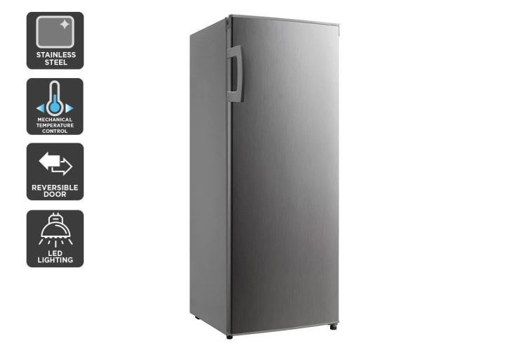 Kogan 237L Upright Fridge - Stainless Steel