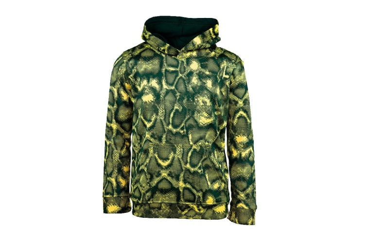 Champion Boys' Printed Performance Pullover Hoodie (Reptile Green, Size L)