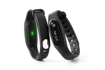 Fitness Band Heart Rate Monitor Smart Watch For Apple Samsung Black