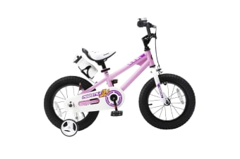 RoyalBaby Freestyle Kid's Bike for Boys and Girls, 12 14 16 inch with Training Wheels, 16 18 20 inch with Kickstand Pink Colour