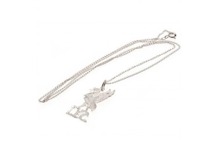 Liverpool FC Sterling Silver Liverbird Pendant And Chain (Silver) (One Size)
