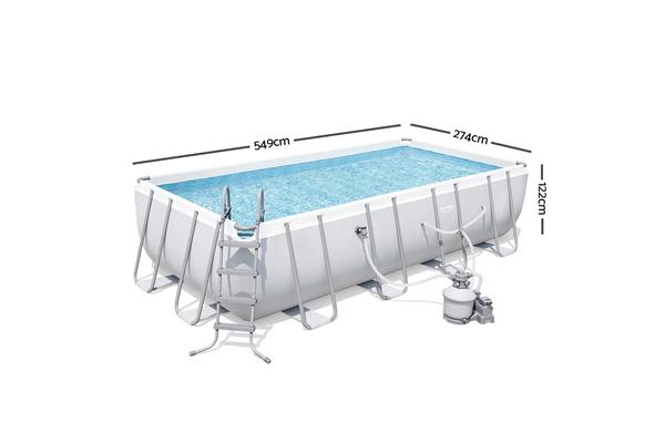 Bestway rectangle frame power steel above ground swimming - Bestway steel frame swimming pool ...