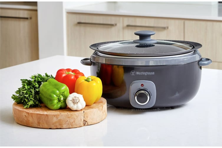Westinghouse 6.5L Non-Stick Pot Slow Cooker - Black