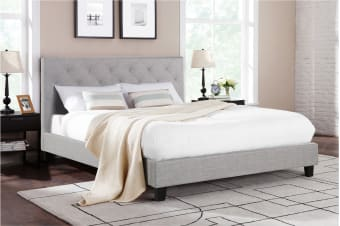 Shangri-La Bed Frame - Sorrento Collection (Grey, King)