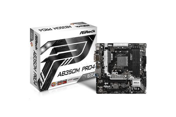 ASRock AB350M Pro4 mATX Form Factor For AMD Socket AM4