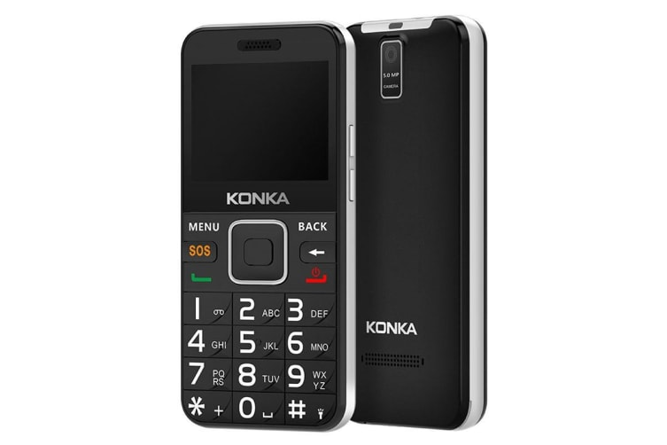 Konka U6 (3G, Keypad, 5MP) - Black/Silver