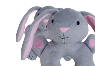 BibiBaby Cuddle Rattle Bella rabbit 1pk