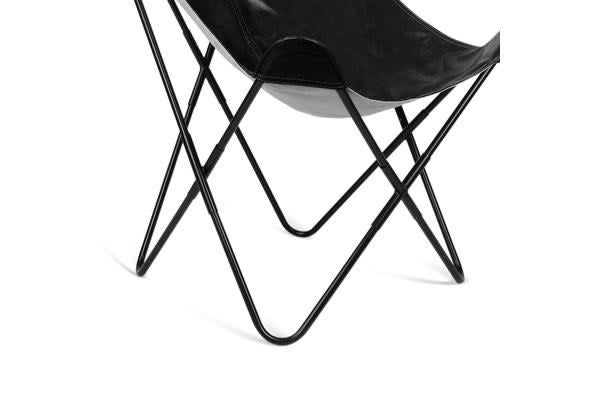 Artiss PU Leather Butterfly Chair (Black)