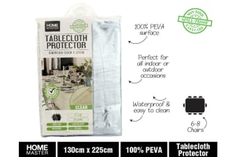 2 x Clear Plastic PVC Table Cloth Protector Covering Outdoors Camping Picnic AU