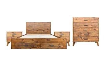 Cob&Co Queen Bedroom Suite (Rustic Wood)