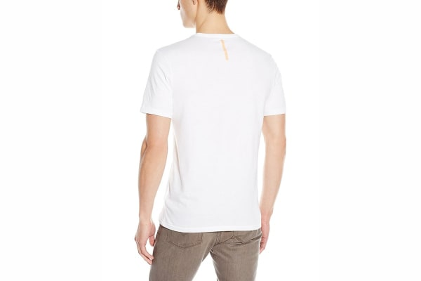 Calvin Klein Jeans Men's Tinted Gel Crew Neck Tee (White, Small)