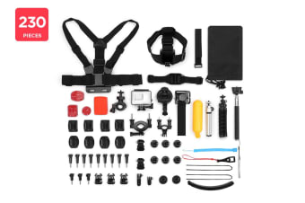 230 Piece GoPro Compatible Accessory Kit