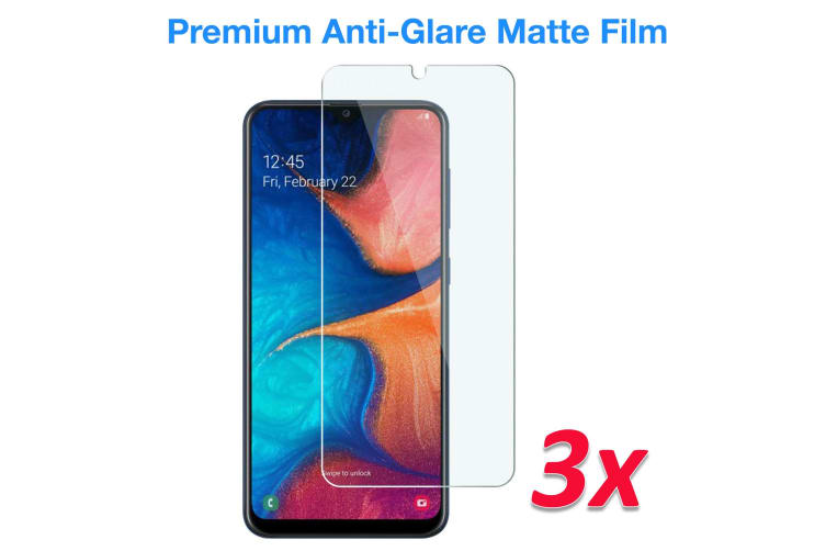 [3 Pack] Samsung Galaxy A30 Anti-Glare Matte Screen Protector Film by MEZON – Case Friendly, Shock Absorption (A30, Matte) – FREE EXPRESS