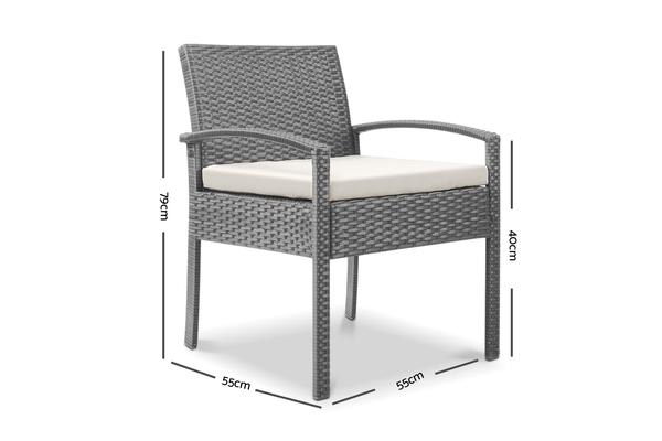 Gardeon Outdoor Rattan Chair (Grey)