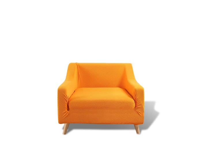 Dreamz Couch Stretch Sofa Lounge Cover Protector Slipcover 1 Seater Orange New