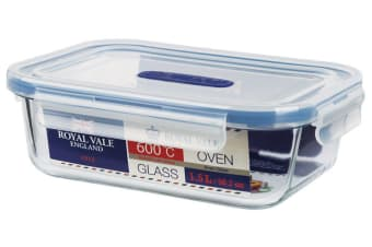 Royal Vale Glass Container Rectangular 1.5L