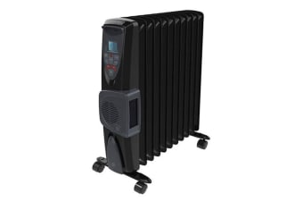 Dimplex 2400W Electric Oil-Free Eco Column Heater w/Climate Control/Turbo Fan BK
