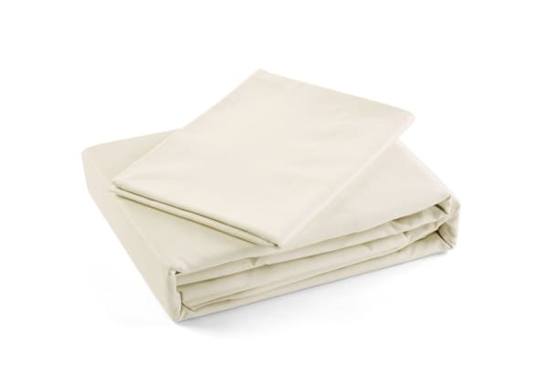 Trafalgar 1500TC Cotton Rich Luxury Quilt Cover Set (Single, Ivory)