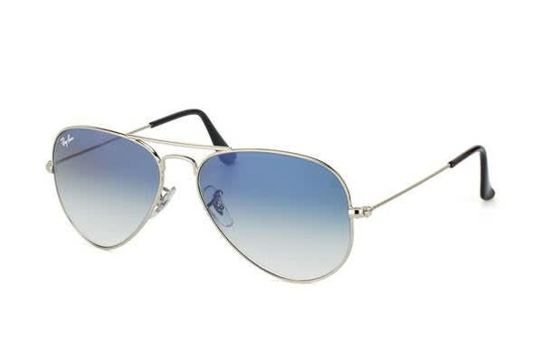 63ac8a3ac426 Ray Ban RB3025 AVIATOR - Silver (Blue Shaded lens)   58--14--135 ...
