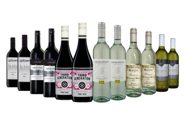 Distinguished Red & White Mixed Wine (12 Bottles)