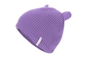 Trespass Childrens/Kids Toot Knitted Winter Beanie Hat (Viola)