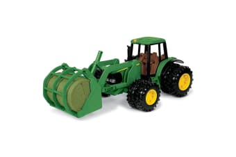 John Deere 20cm 7220 Vehicle/Tractor/Truck w/ Bale Mover Toy/Play/Diecast Kids