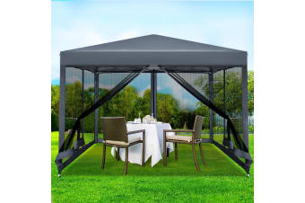 Pop Up Gazebo 3x3m Wedding Marquee Mesh Side Walls Outdoor Gazebos