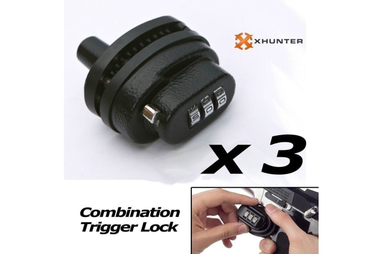 3-dial Combination Trigger Lock (pack Of 3)