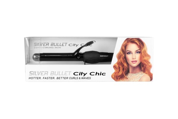 Silver Bullet City Chic Black Curling Iron - 25mm (900666)