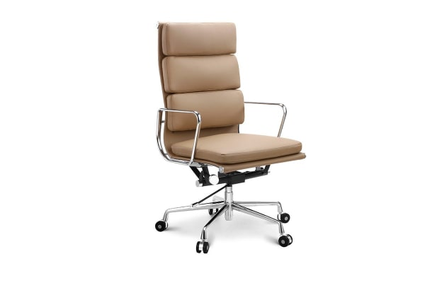 Ovela Executive Eames Replica High Back Padded Office Chair (Light Brown)