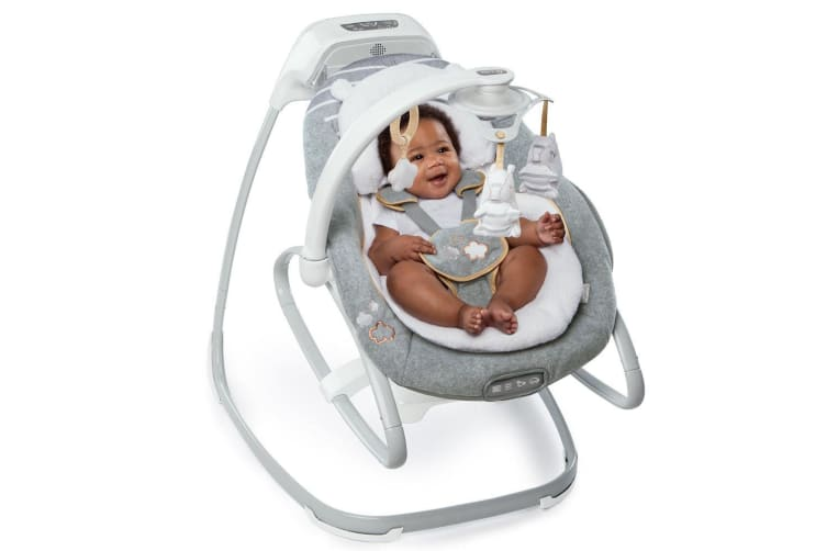 Ingenuity Boutique Baby/Infant Gliding/Swing Rocker/Rocking Chair Seat Grey 0m+