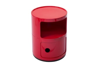 Replica Anna Castelli Ferrieri Componibili Round Storage Unit 2 Tier | Red