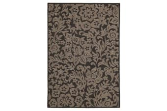 Independence Indoor Outdoor Modern Black Rug 160X110cm