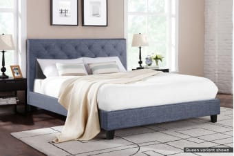 Shangri-La Bed Frame - Sorrento Collection (Pewter Grey, King)