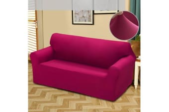 Easy Fit Stretch 2 Seater Couch Sofa Slipcover Protector Cover BURGUNDY