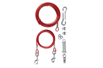 Trixie Tie Out Cable With Pulley (Red) (15m)