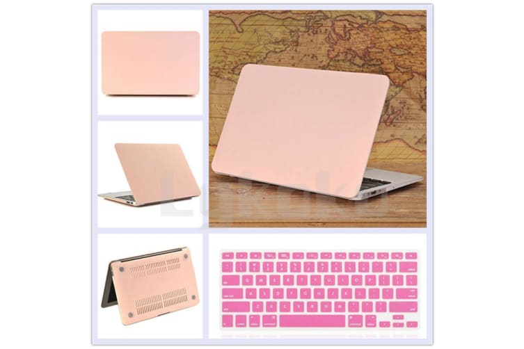 "Marble Frosted Matte Hard Case with Free Keyboard Cover for MacBook Pro 13"" 2019 A2159 A2251-Baby Pink"