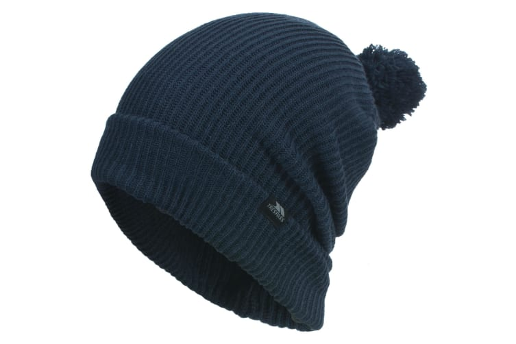 Trespass Mens Karev Knitted Slouch Winter Hat (Navy) (One size)