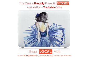 "Hard Case Cover for Apple Macbook Pro 13"" Inch  A1708-Girl In Blue Dress"