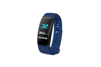 Waterproof Health Tracker,Fitness Tracker Color Screen Sport Smart Watch Blue