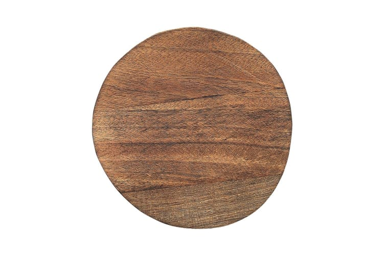 Ecology 25cm Mason Round Footed Serving Cheese Board Stand Natural Mango Wood